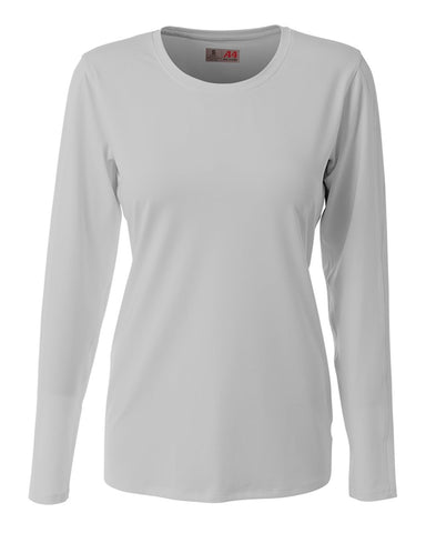 A4 NG3015 The Spike - Long Sleeve Volleyball Jersey - Silver - HIT A Double