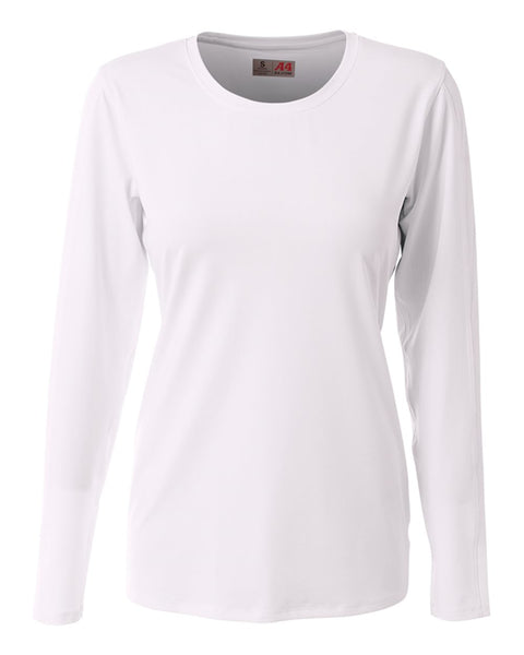 A4 NG3015 The Spike - Long Sleeve Volleyball Jersey - White