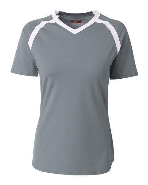 A4 NG3019 The Ace - Short Sleeve Volleyball Jersey - Graphite White - HIT A Double