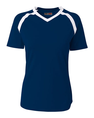 A4 NG3019 The Ace - Short Sleeve Volleyball Jersey - Navy White - HIT A Double