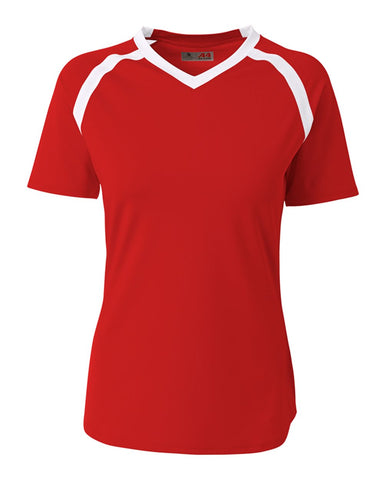 A4 NG3019 The Ace - Short Sleeve Volleyball Jersey - Scarlet White - HIT A Double