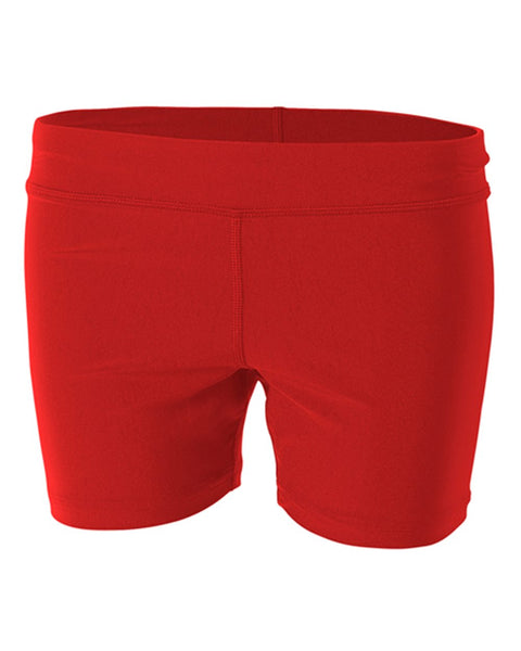 "A4 NG5024 4"" Volleyball Short - Scarlet - HIT A Double"