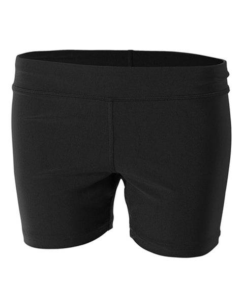 "A4 NW5024 4"" Volleyball Short - Black"
