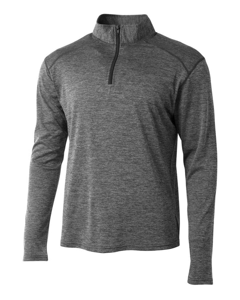 A4 N4010 Inspire Quarter Zip - Charcoal - HIT A Double