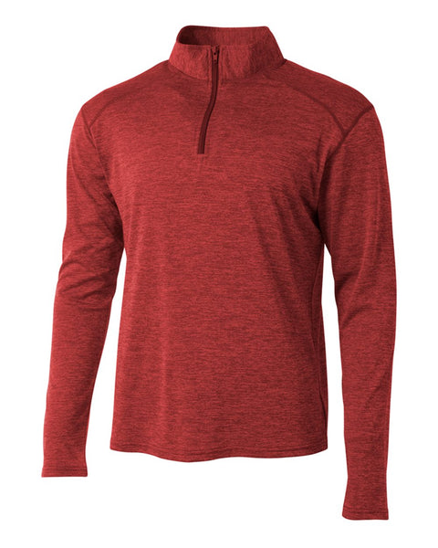 A4 N4010 Inspire Quarter Zip - Red - HIT A Double