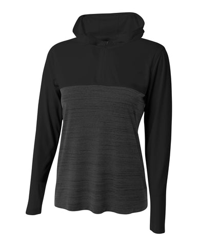 A4 NW4013 The Slate Quarter Zip - Black