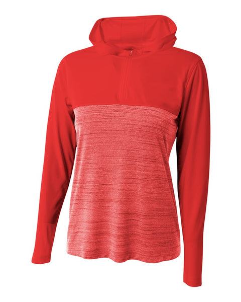 A4 NW4013 The Slate Quarter Zip - Scarlet