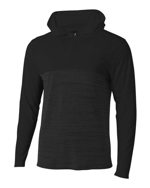 A4 N4013 The Slate Quarter Zip - Black
