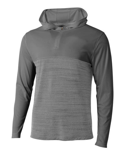 A4 N4013 The Slate Quarter Zip - Graphite