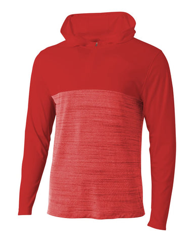 A4 N4013 The Slate Quarter Zip - Scarlet