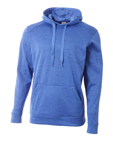 A4 N4103 Inspire Fleece Hoodie - Light Blue