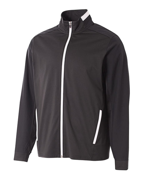 A4 NB4261 League Youth Full Zip Jacket - Black White