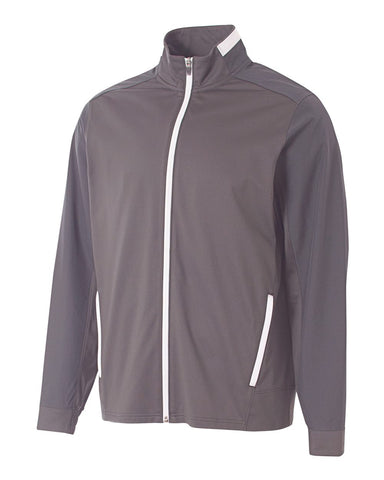 A4 NB4261 League Youth Full Zip Jacket - Graphite White