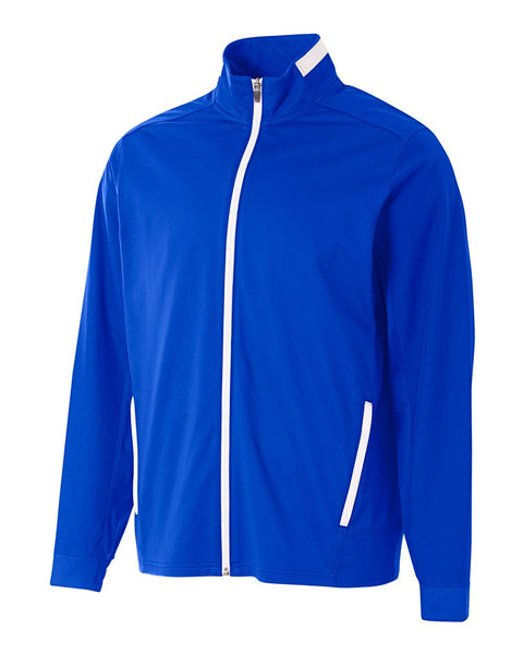 A4 NB4261 League Youth Full Zip Jacket - Royal White