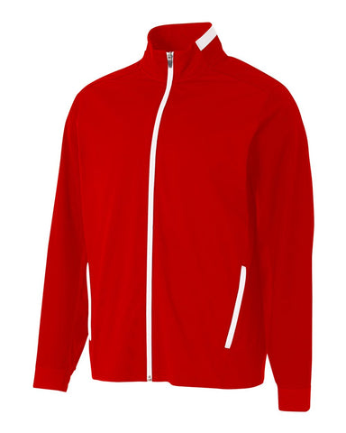 A4 NB4261 League Youth Full Zip Jacket - Scarlet White