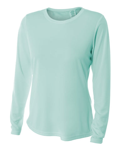 A4 NW3002 Women's Long Sleeve Performance Crew - Pastel Mint