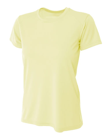 A4 NW3201 Women's Cooling Performance Crew - Light Yellow