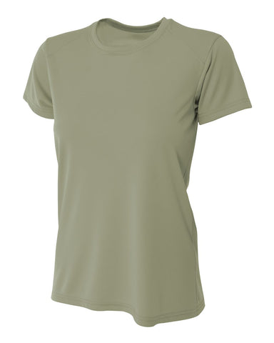 A4 NW3201 Women's Cooling Performance Crew - Olive