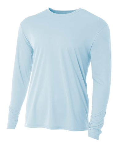 A4 N3165 Cooling Performance Long Sleeve Crew - Pastel Blue