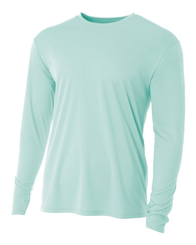 A4 N3165 Cooling Performance Long Sleeve Crew - Pastel Mint