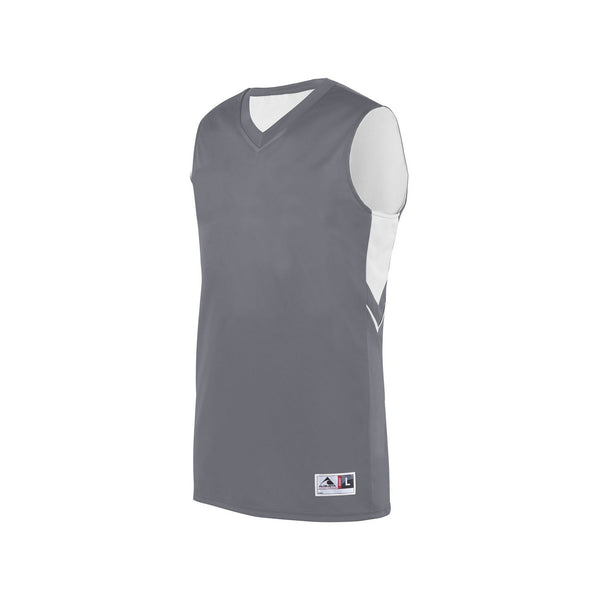 Augusta 1166 Alley-Oop Reversible Jersey - Graphite White