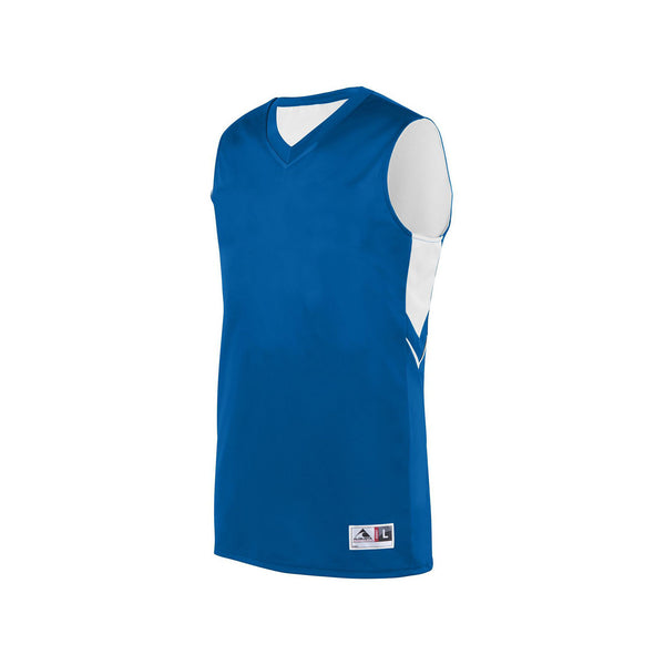 Augusta 1167 Youth Alley-Oop Reversible Jersey - Royal White