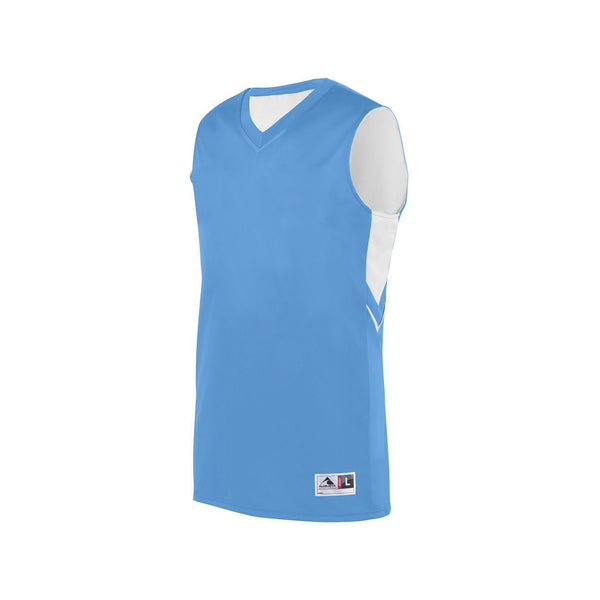Augusta 1167 Youth Alley-Oop Reversible Jersey - Columbia Blue White