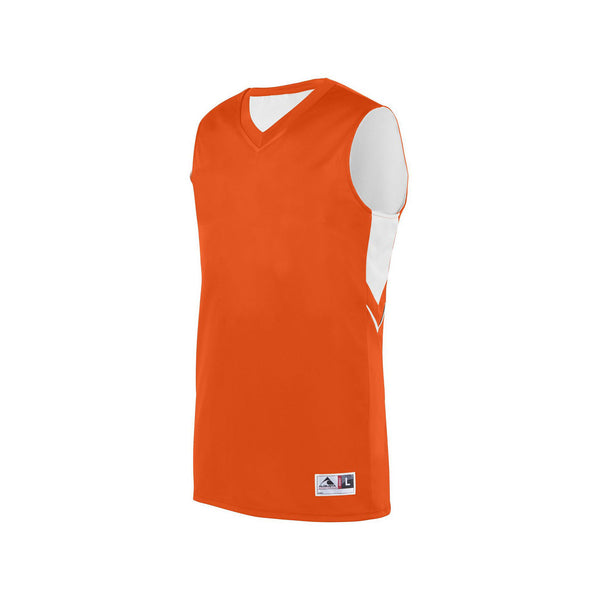 Augusta 1167 Youth Alley-Oop Reversible Jersey - Orange White