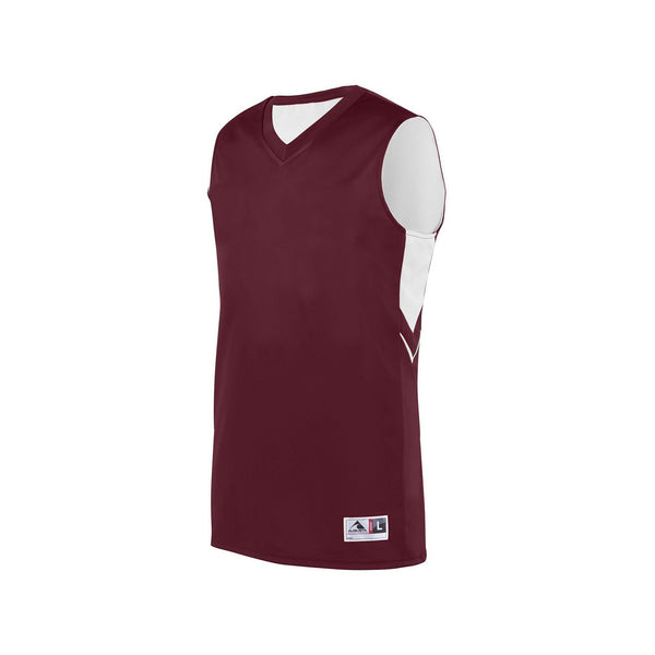 Augusta 1167 Youth Alley-Oop Reversible Jersey - Maroon White