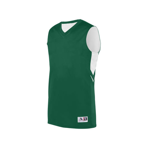 Augusta 1167 Youth Alley-Oop Reversible Jersey - Dark Green White