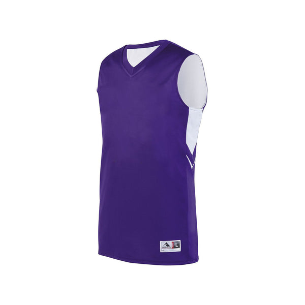 Augusta 1167 Youth Alley-Oop Reversible Jersey - Purple White