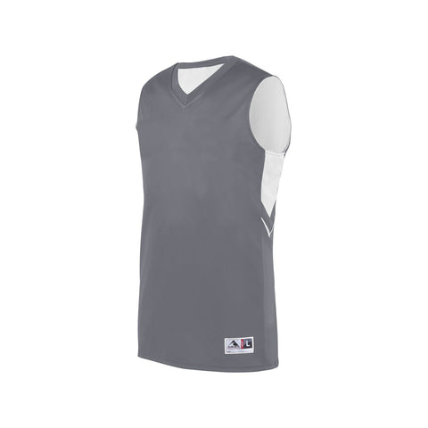 Augusta 1167 Youth Alley-Oop Reversible Jersey - Graphite White