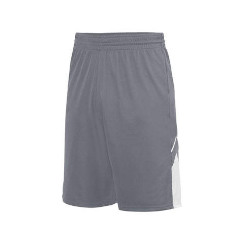 Augusta 1168 Alley-Oop Reversible Short - Graphite White