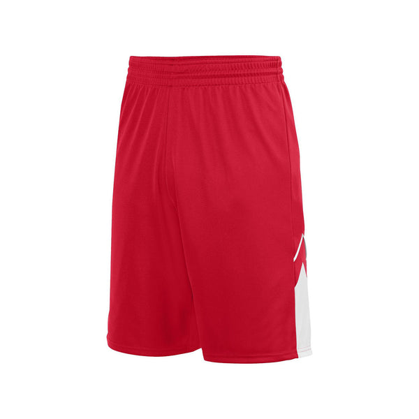 Augusta 1169 Youth Alley-Oop Reversible Short - Red White