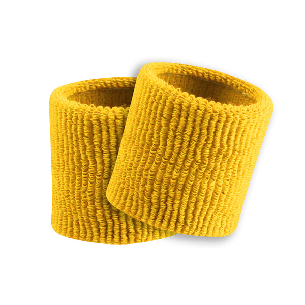 "Twin City Terry Wristbands 3.5"" - Gold"