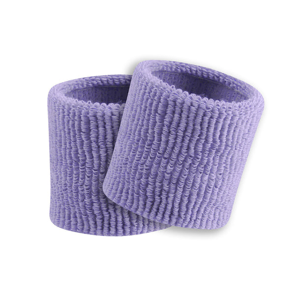 "Twin City Terry Wristbands 3.5"" - Lilac"
