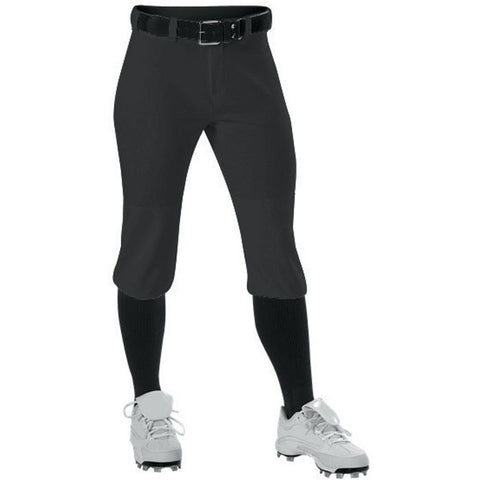Alleson 605PKNG Girl's Fastpitch Pant - Black