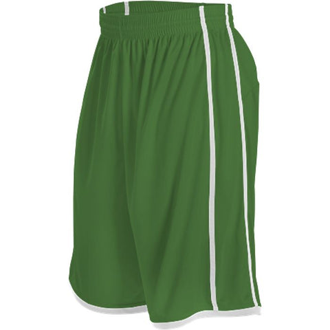 Alleson 535P Adult Basketball Short - Kelly White