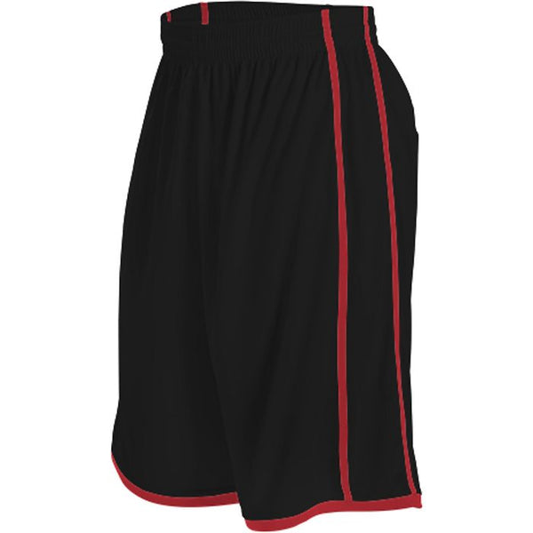 Alleson 535PY Youth Basketball Short - Black Scarlet