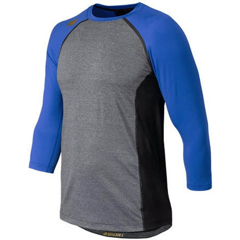New Balance 3/4 Sleeve Baseball Compression Shirt - Royal Gray