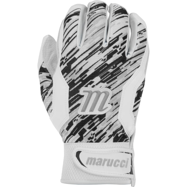 Marucci Adult Quest Batting Gloves - White Black Camo - Batting Gloves - Hit A Double - 1
