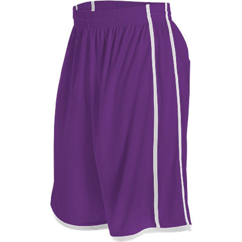 Alleson 535P Adult Basketball Short - Purple White