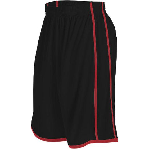 Alleson 535PW Women's Basketball Short - Black Scarlet - Basketball - Hit A Double