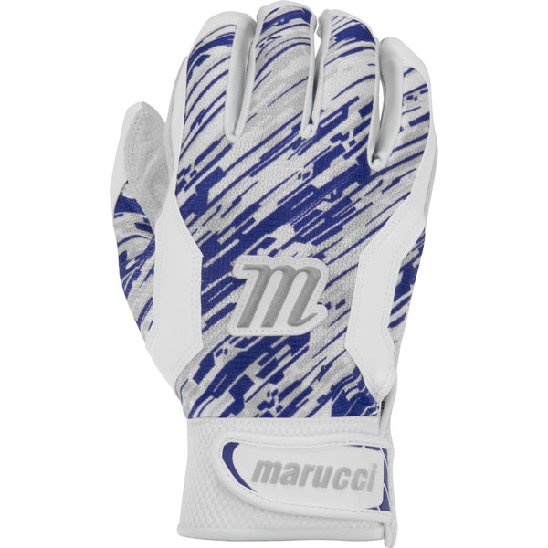 Marucci Adult Quest Batting Gloves - White Navy Camo - Batting Gloves - Hit A Double - 1