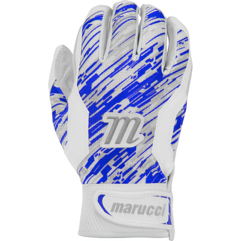 Marucci Adult Quest Batting Gloves - White Royal Camo - Batting Gloves - Hit A Double - 1