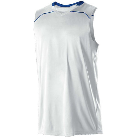Alleson 537JW Women's Basketball Jersey - White Royal - Basketball - Hit A Double