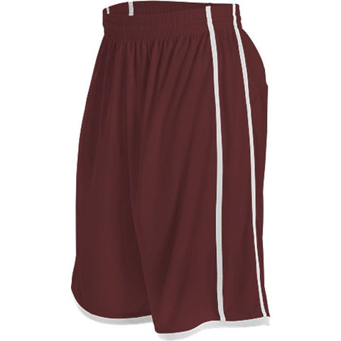 Alleson 535PY Youth Basketball Short - Maroon White