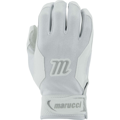 Marucci Adult Quest Batting Gloves - White - Batting Gloves - Hit A Double - 1