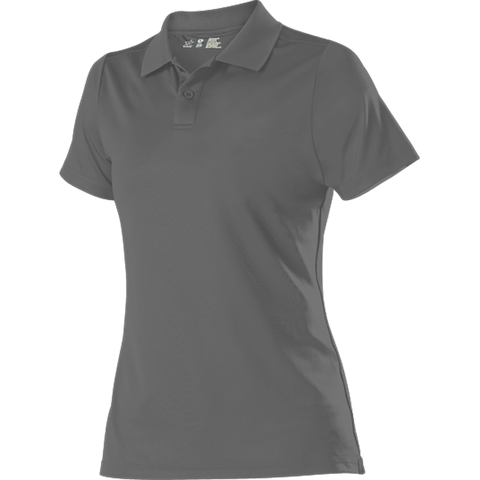 Alleson GPL5W Women's Gameday Polo - Charcoal - Band, Bowling, Fanwear, Golf - Hit A Double