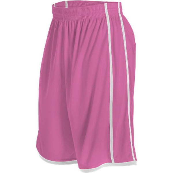 Alleson 535P Adult Basketball Short - Pink White